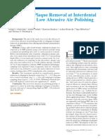 Interproximal Efficacy of Low Abrasive Subgingival Air Polishing-1