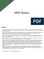 HRD_Notes
