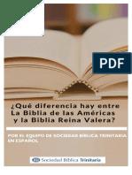 ¿Qué Diferencia Hay Entre La Biblia de Las Américas y La Biblia Reina Valera