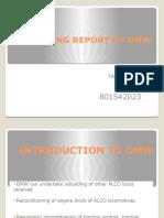 Trainning Report of Dmw