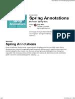 Spring Annotation