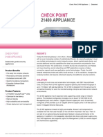Chech Point 21400 Appliance Datasheet