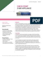 Chech Point 21400 Appliance Datasheet