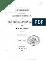 Aanteekeningen betrekkelijk de Nijmeegsche vroedschaps- en vereering-penningen / door W.J. de Voogt