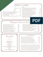 Wine Lists Around Jacksonville - Orsay