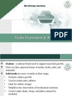 Media Preparation Sterilization