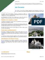 Basílica del Sagrado Corazón - Sacré Coeur en Montmartre, París