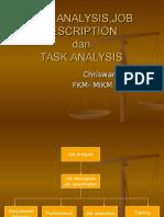 Job Analysis - Description & Specification