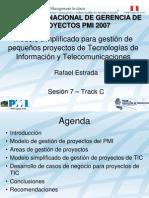 ModSimp TICs PMI Peru Congreso 2007