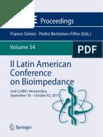 (IFMBE Proceedings 54) Franco Simini, Pedro Bertemes-Filho (Eds.)-II Latin American Conference on Bioimpedance_ 2nd CLABIO, Montevideo, September 30 – October 02, 2015-Springer