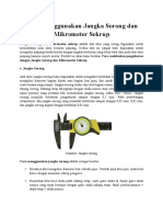 Cara Menggunakan Jangka Sorong Dan Mikrometer Sekrup