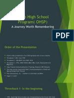 Open High School Program OHSP