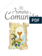 Folleto de Primera Comunion