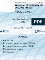 PMBOK y CMMI 1 2 PMI Peru Congreso 2007