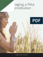 Pitta Dosha Ayurveda PDF