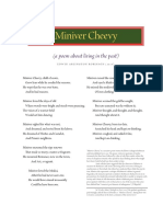 Miniver Cheevy