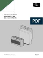 Photovolataïque - Sunny Boy 240 Instructions d'Installation