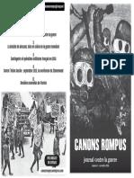 Canons Rompus Numero 1