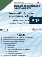 Project Recovery PMI Peru Congreso 2007