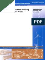 NREL Impact of Ethanol Blending on Gas Prices Nov2008