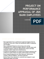 Project on Performance Appraisal of j&k Bank Employees