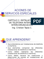 Bloque 2 Instalaciones de Telefonia Interior e Intercomunicacion