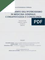 Materiale Didattico ipotiroidismo