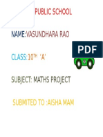 Vasundhara Maths Ppt