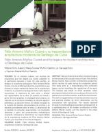 Félix Antonio Muñoz Cusiné y su trascendencia dentro de la arquitectura moderna de Santiago de Cuba.