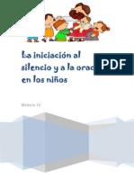 Modulo IV - La iniciación al silencio y a la oración en los niños