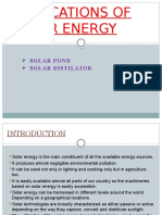 Solar energy application