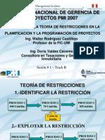 TOC Construccion PMI Peru Congreso 2007