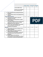 Rubric for the Psychology Experiments Fair