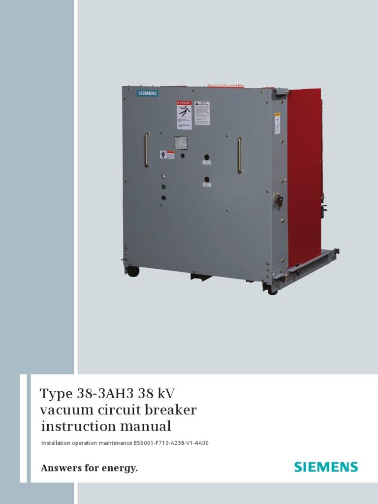 SIEMENS 33 kV GIS manual   Electric Arc   Switch