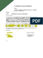 Vibrateck Carta de Comrpomiso y Relacion de Maquinaria Pavimentacion Bicapa