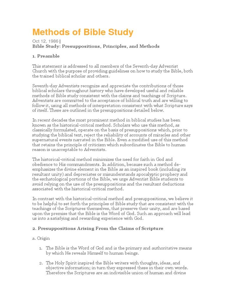 Methods of Bible Study | Revelation | Bible