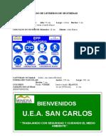 Letreros de Seguridad Planta San Carlos