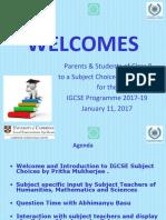 IGCSE Presentation of Class 8 Subject Choice 2017