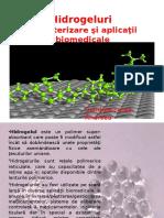 Hidrogeluri Caracterizare Şi Aplicaţii Biomedicale