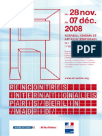 RENCONTRES INTERNATIONALES  Programme Paris 2008