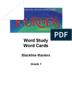 word study word cards