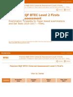 8144 BTEC Timetable L2