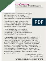 Virgilio Giotti - Domenica Sole 24 Ore - 15-01-2017