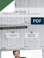 Unidad 1. Intro a La Contabilidad de Costos