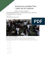 Colombia Avanzó en Pruebas Pisa