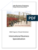 SDSU International Business Specialization