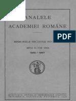 Analele Academiei Române. Memoriile Secţiunii Istorice. Seria 3. Tomul 29  1946-1947.pdf