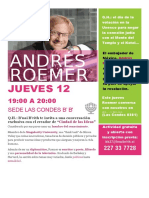 Afiche Andres Roemer
