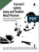 Annabel Karmels Complete Baby Toddler Meal Planner