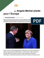 La Croix a Londres Angela Merkel Plaide Pour l Europe